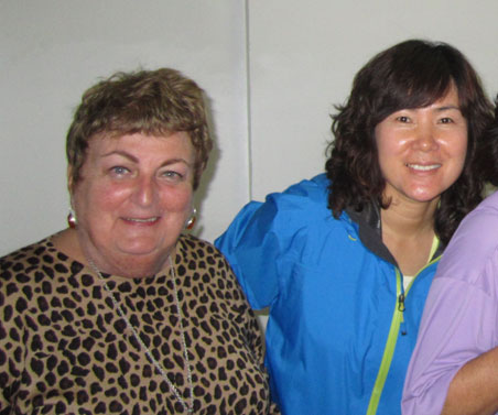 San Ae, project participant, with her mentor, Mary Arsenault