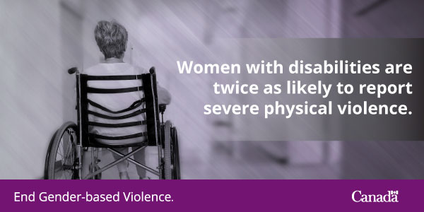 Women with disabilities are twice as likely to report severe physical violence.