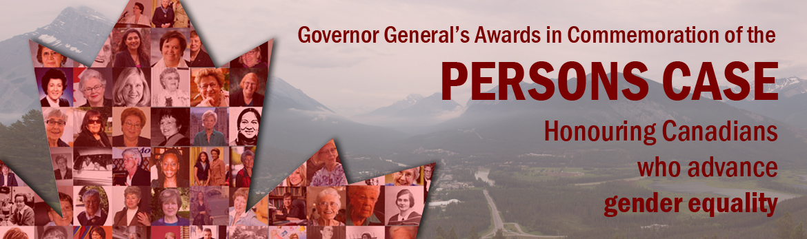 Governor General's Award in Commemoration of the Persons Case Banner