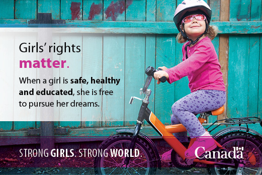 Infobite saying Girls' rights matter