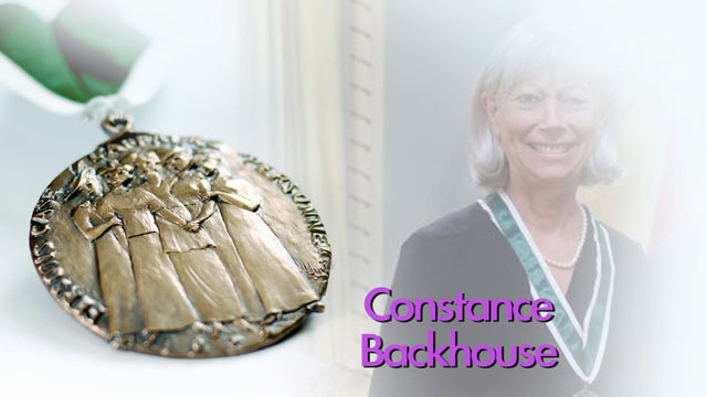 Constance Backhouse, Ottawa, Ontario, Recipient, 2013, Governor General Awards in Commemoration of the Persons Case