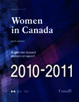 Cover of the publication Women in Canada 2010-2011