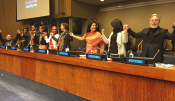 Minister Monsef at the Commission on the Status of Women Youth Forum